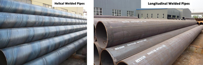 Difference between helical welded pipes and longitudinal welded pipes