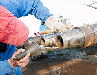 Inspect weld of oil drill pipes
