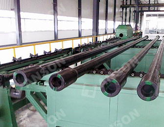 painting and drying of oil drill pipe